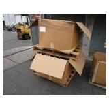 A PALLET OF BOXES WITH REAR VIEW MIRRORS