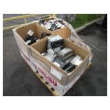 A PALLET WITH BOXES OF STEREO HEAD UNIT
