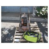A PALLET WITH PLATE COMPACTER & POWER TOOLS