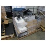 A PALLET WITH ASSORTED ELECTRONICS ITEMS