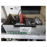 BOX WITH ASSORTED POWER TOOLS