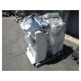 A PALLET OF ASSORTED PRINTERS & MONITORS
