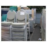 ROW OF CHAIRS & OFFICE FURNITURE