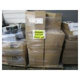 A PALLET OF BOXES WITH OFFICE TELEPHONES