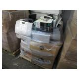 A PALLET OF ASSORTED PRINTERS & TELEPHONES