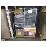 A PALLET OF ASSORTED OFFICE MACHINES