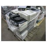 A PALLET WITH ASSORTED PRINTERS & PHOTOCOPIERS