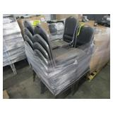 LOT OF BLACK CHAIRS