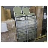 LOT OF GREEN CHAIRS