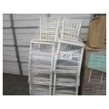 LOT OF WHITE CHAIRS