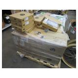 A PALLET WITH OFFICE TELEPHONES