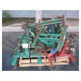 PALLET WITH GREENLEE REEL STANDS
