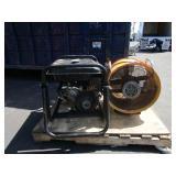 PALLET OF ETQ TG5250 GENERATOR AND FAN