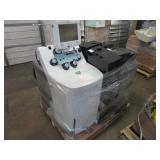 A PALLET WITH ASSORTED PRINTERS & MEDICAL