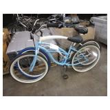 2 BICYCLES WHITE & LIGHT BLUE