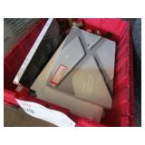 BOX WITH LAPTOP CASES & PIPE FITTINGS