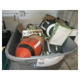 BOX WITH SPORTING EQUIPMENT