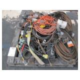 PALLET OF ASSORTED EXTENSION CORDS & WORK LIGHTS