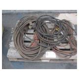 LOT WITH 2 VICTOR CUTTING TORCH HEADS & HOSES
