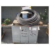 PALLET WITH BREAKER PANELS & ASSORTED WIRE