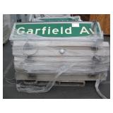 PALLET OF PHOTOELECTRIC STREET SIGN