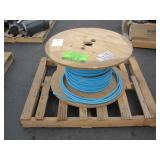 SPOOL OF BLUE INSULATED CABLE
