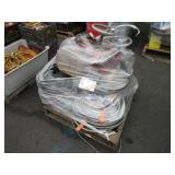 PALLET WITH ASSORTED HOSES, CABLES & VALVES