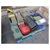 PALLET WITH TOOL BOXES