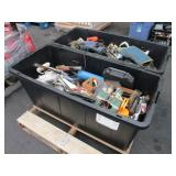 2 TOTES FULL ASSORTED HAND TOOLS