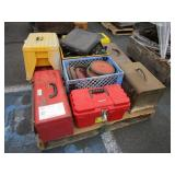 PALLET WITH ASSORTED TOOLBOXES