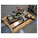 PALLET WITH ASSORTED CHAINSAWS