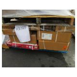 PALLET WITH HEAVY DUTY STORAGE UNITS