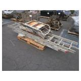PALLET WITH ALUMINUM LADDERS ASSORTED SIZES