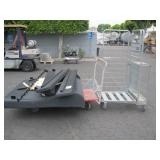 LOT WITH FLAT CART & CUSHIONED BED FRAME
