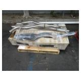 PALLET WITH VEHICLE EXHAUST SYSTEM