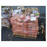 A PALLET WITH ASSORTED AUTOMOTIVE PARTS