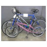 LOT WITH BMX BIKE AND 2 MOUNTAIN BIKES