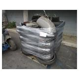 PALLET WITH TIRES ASSORTED SIZES, MOTORCYCLE FUEL
