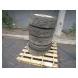 PALLET WITH TIRES