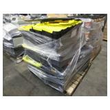 PALLET WITH DEWALT CARRYING TOOLBOXES
