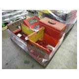 PALLET WITH HANDTOOLS & TOOLBOXES