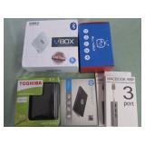 1 LOT W/MINI TV BOX, HARD DRIVE, USB PORTS