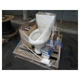 PALLET WITH TOILET & BALL BEARINGS