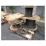 LOT OF SPOOLS WITH CABLES
