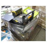 PALLET WITH CARRYING TOOLBOXES, QEP 21 MANUAL PRO