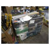 PALLET WITH MAILBOXES, REEL MOWER, TILE WET SAW,