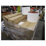 PALLET WITH LAMP SHADES & ASSORTED MIRRORS