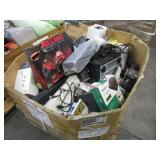BOX WITH ASSORTED VIDEO GAMES & ELECTRONICS ITEMS