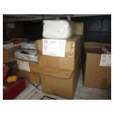 BOXES WITH BED SHEETS