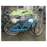 2 BLUE BICYCLES